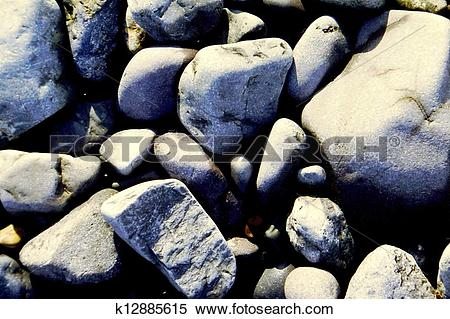 Stock Image of Beach Stones k12885615.