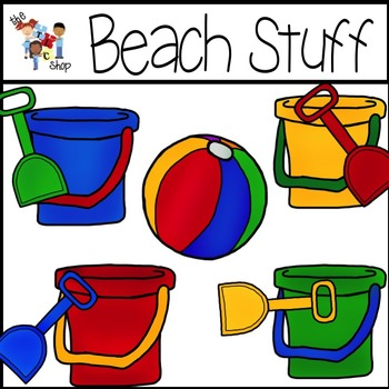 Beach Stuff Clipart Set by Total Language Connections.