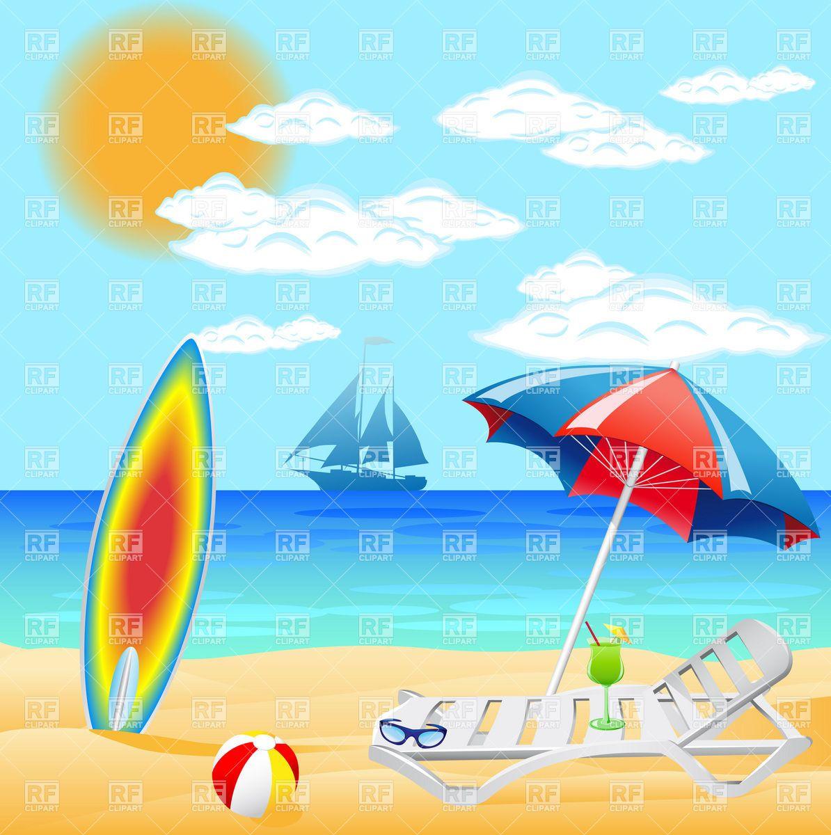 Beach Vacation Clip Art.