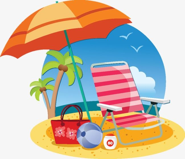 Beach Chairs, Chair, Summer, Beach PNG Transparent Clipart.