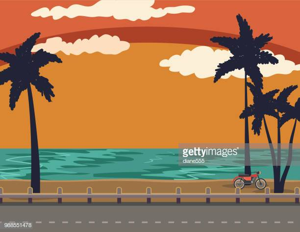 29 Sunset Beach Stock Illustrations, Clip art, Cartoons & Icons.