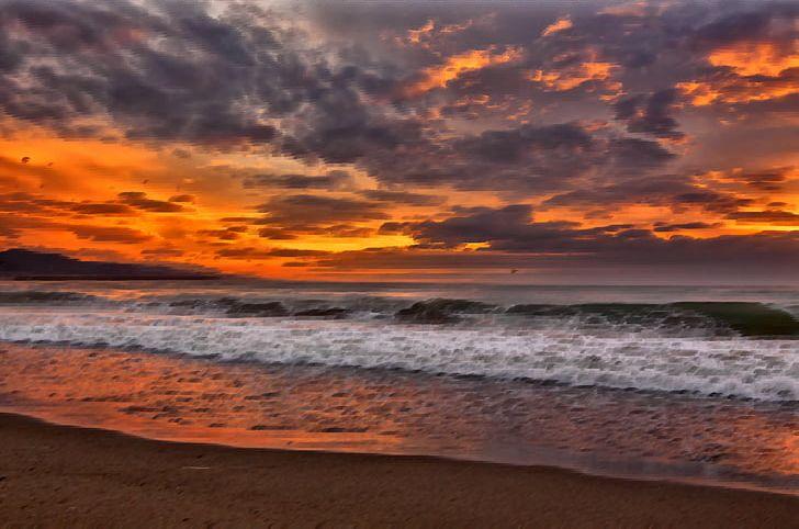 Cherai Beach Shore Sunset Desktop PNG, Clipart, Beach, Beaches, Calm.