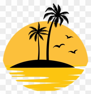 Free PNG Beach Sunset Clip Art Download.