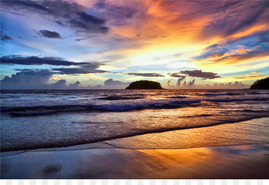 Beach Sunset Png & Free Beach Sunset.png Transparent Images #18502.