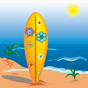 Surfboard Clipart Image.
