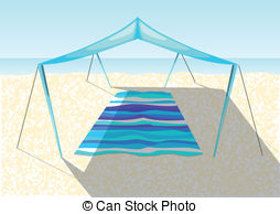 Beach tent Illustrations and Clipart. 933 Beach tent royalty free.