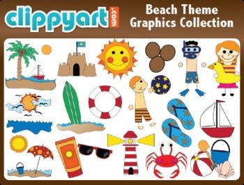 Beach Theme Clipart Collection.