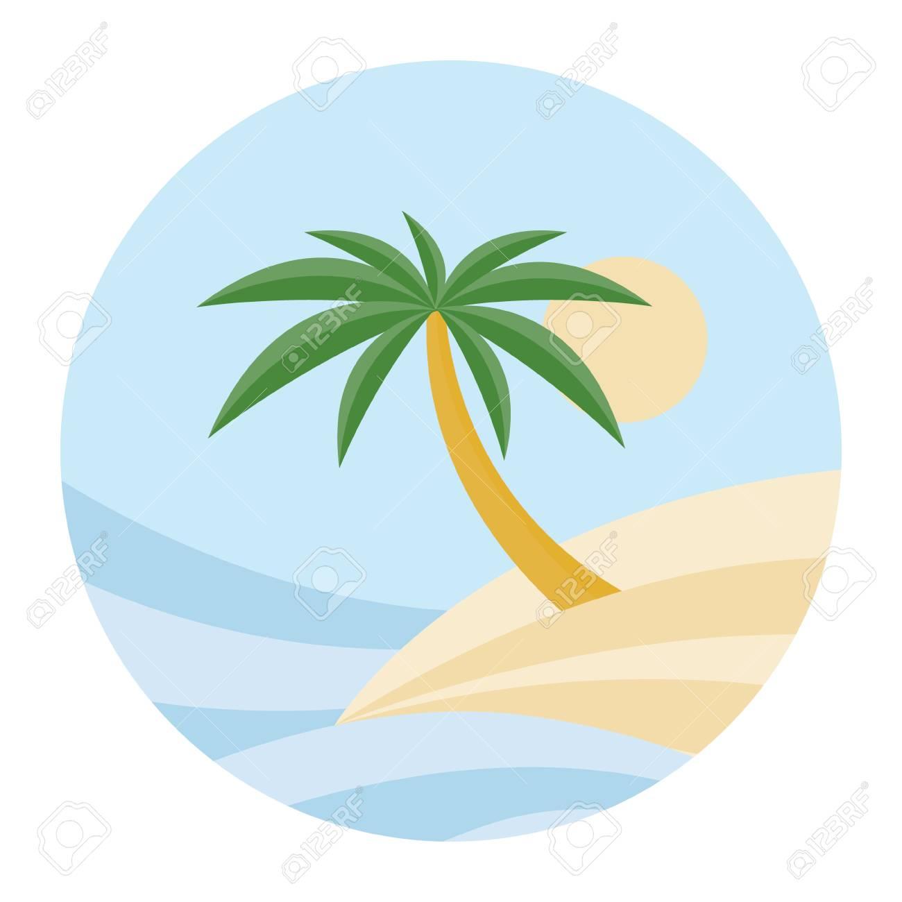 BEACH THEME. vector illustration of the wave, tropical island...