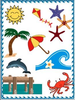 Beach Theme Clip Art.