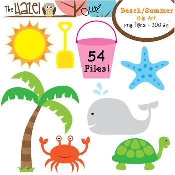 Beach / Summer Set: Clip Art Graphics for Teachers.