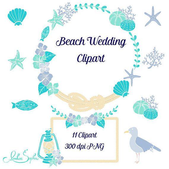 Beach Wedding Clipart Nautical Wedding Invitation Clip Art Sea.