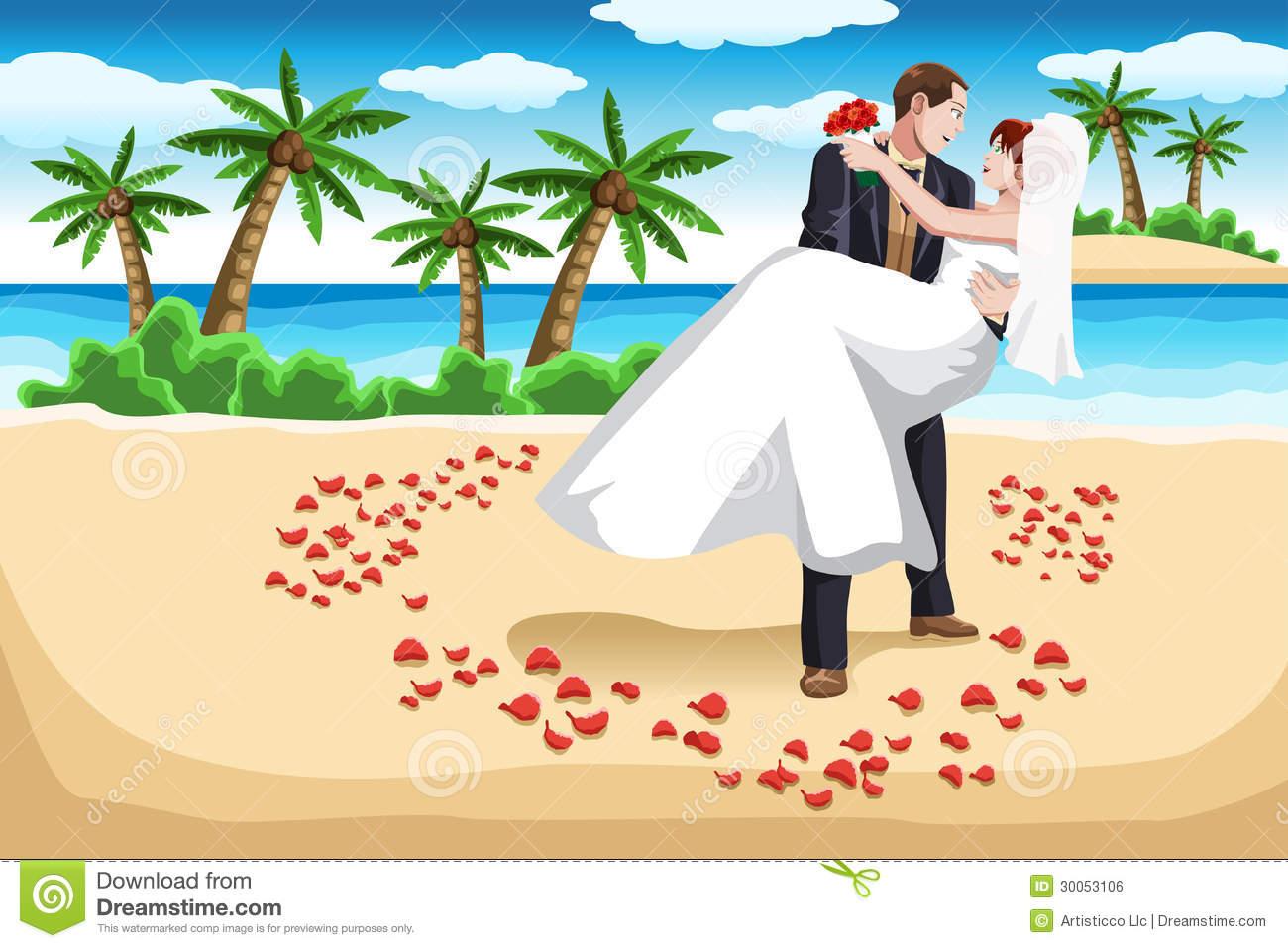 Beach Bride Clipart.