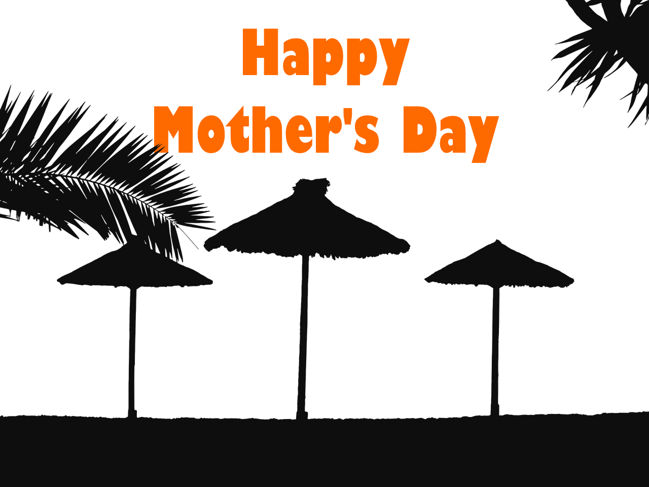 FREE Beach Themed Mother's Day Clipart (Personal and Commercial Use.