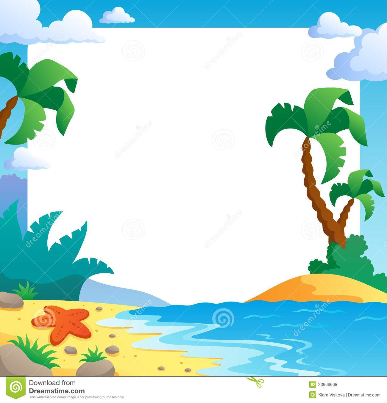Beach Clipart Borders.