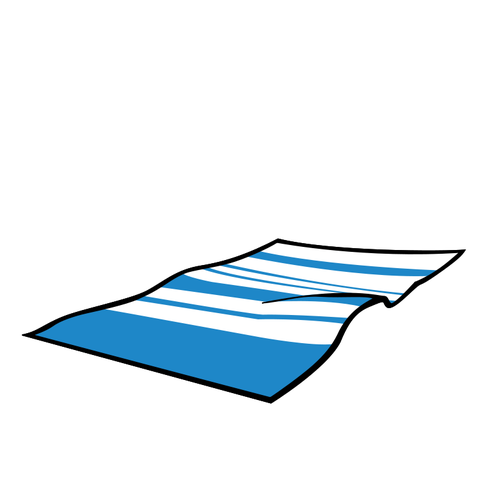 Summer beach towel vector image.