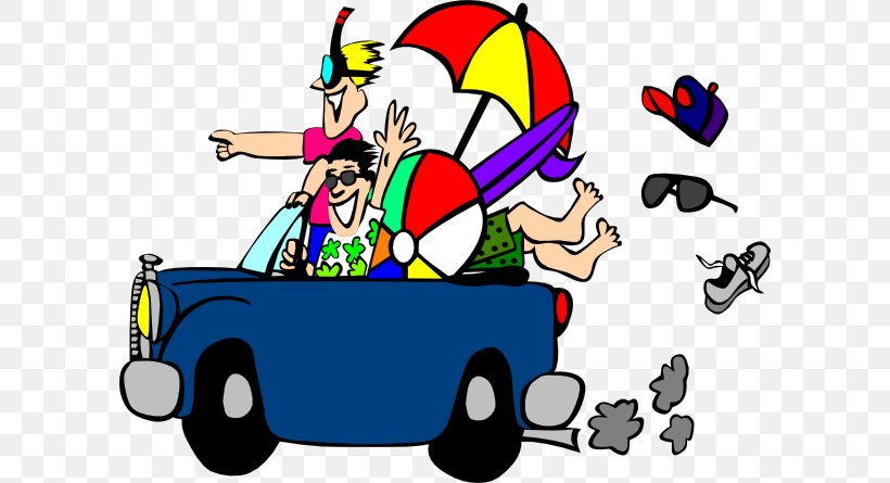 Beach Travel Road Trip Vacation Clip Art, PNG, 600x445px.
