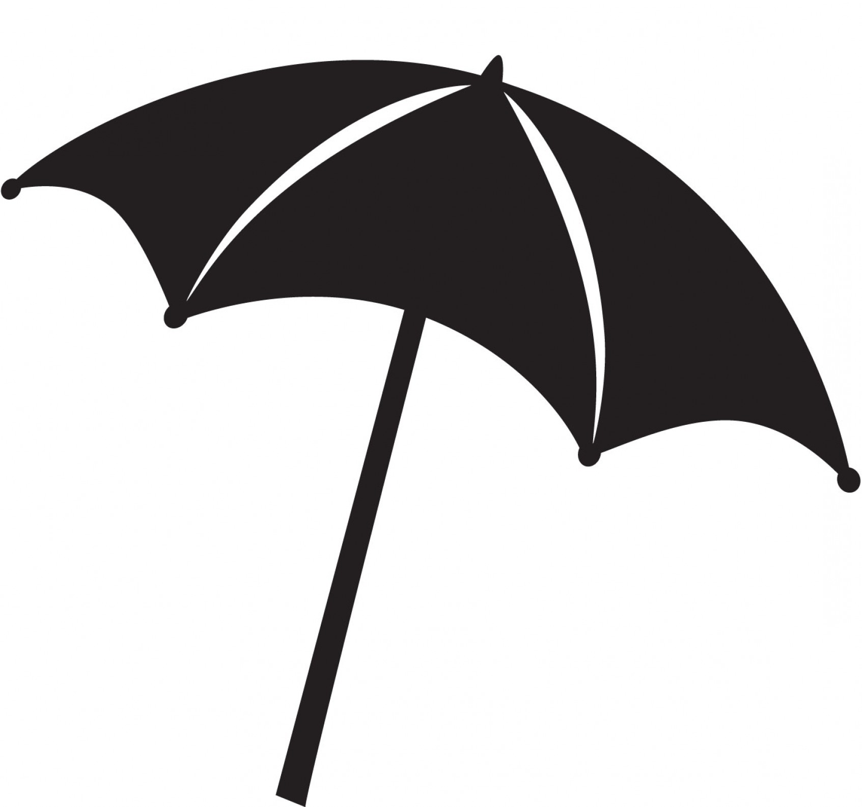Beach Umbrella Clipart Black And White.
