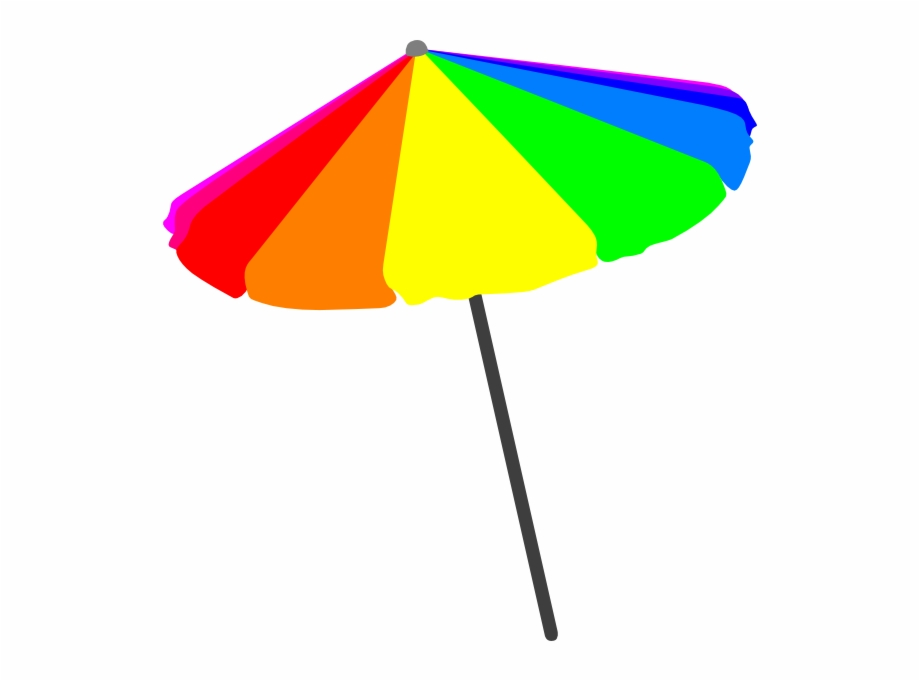 Beach Umbrella Vector Png.