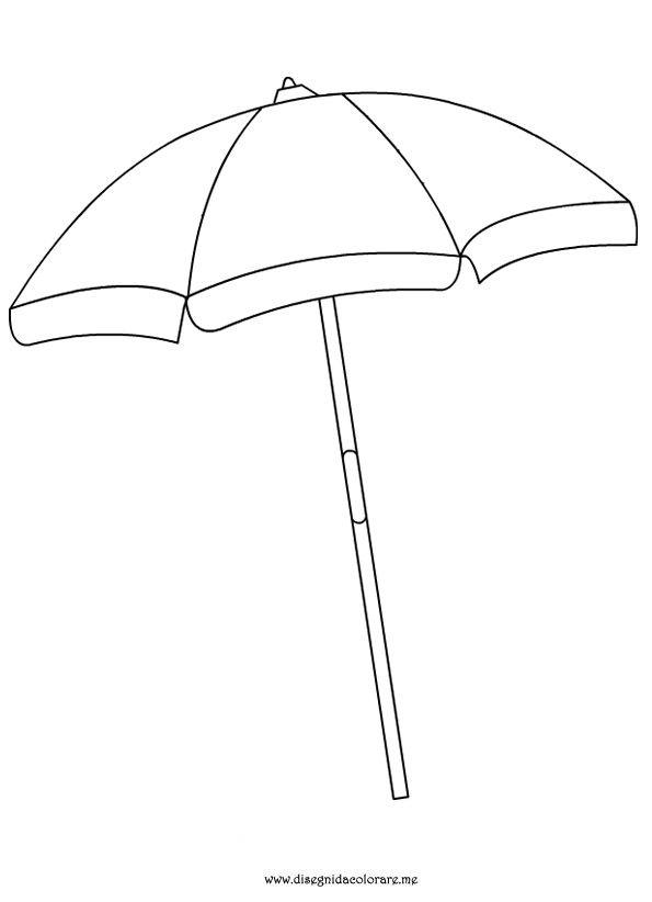 beach umbrella coloring page.