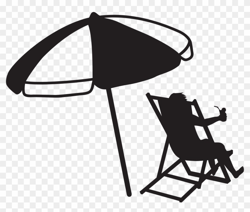 Beach umbrella clipart black and white 1 » Clipart Portal.
