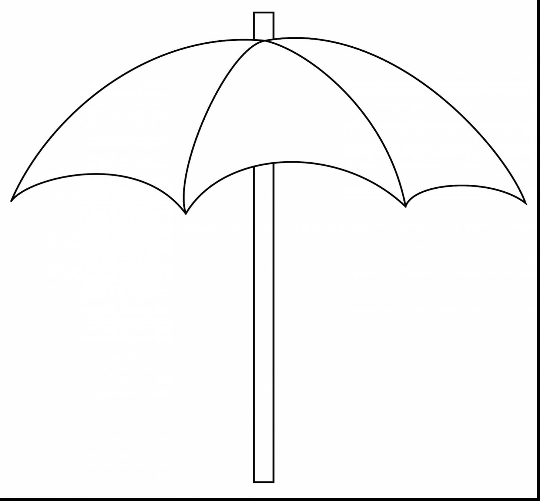 Beach Umbrella Clipart Outline inside Beach Umbrella Clipart Black.