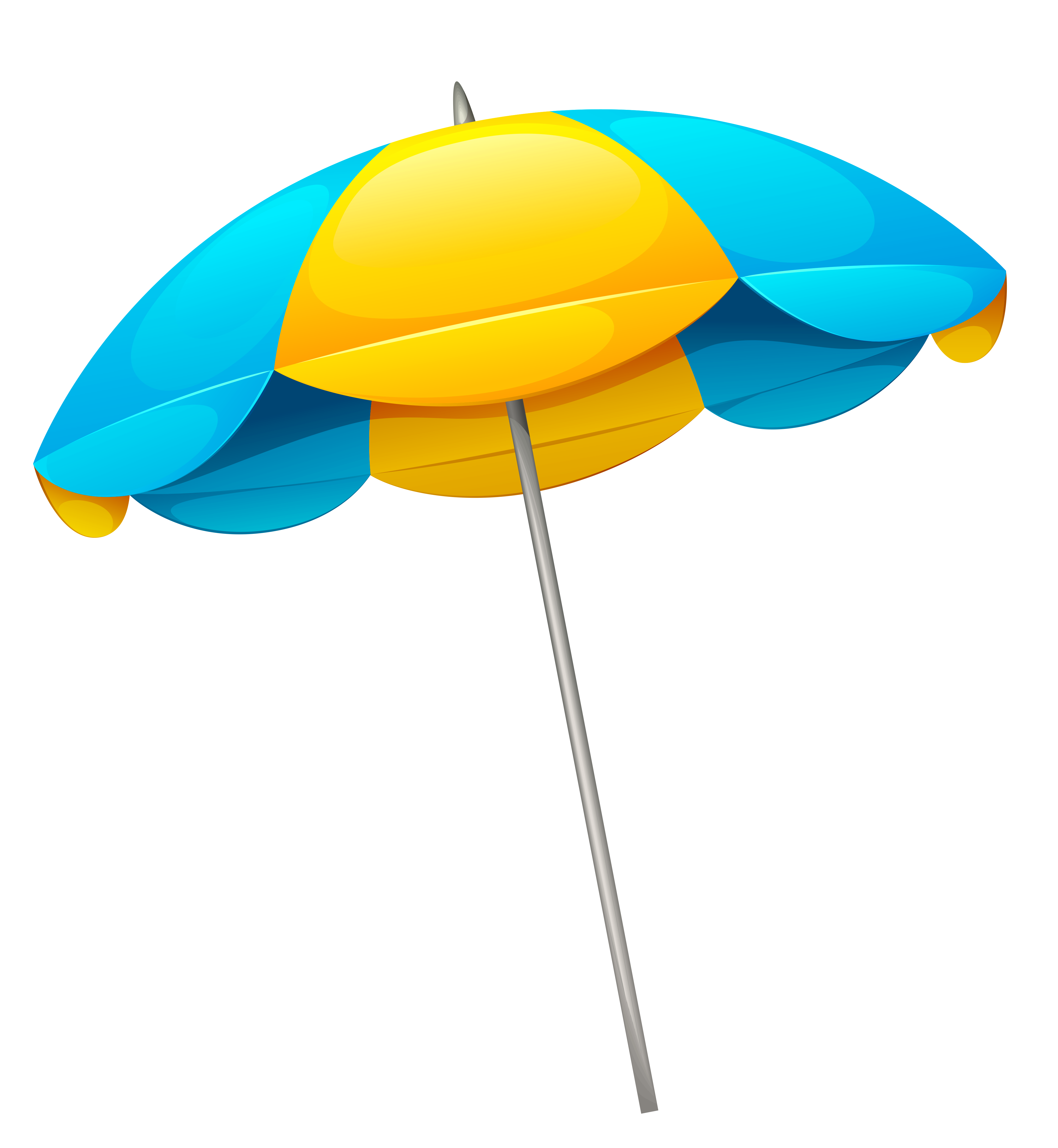 Beach Umbrella Clipart Top View.