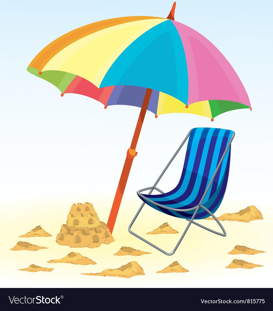 Beach umbrella chair.