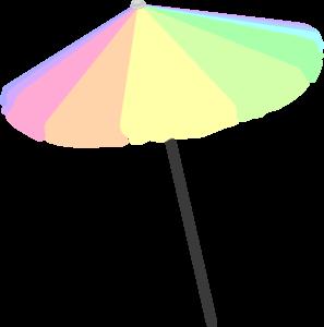 574 Beach Umbrella free clipart.
