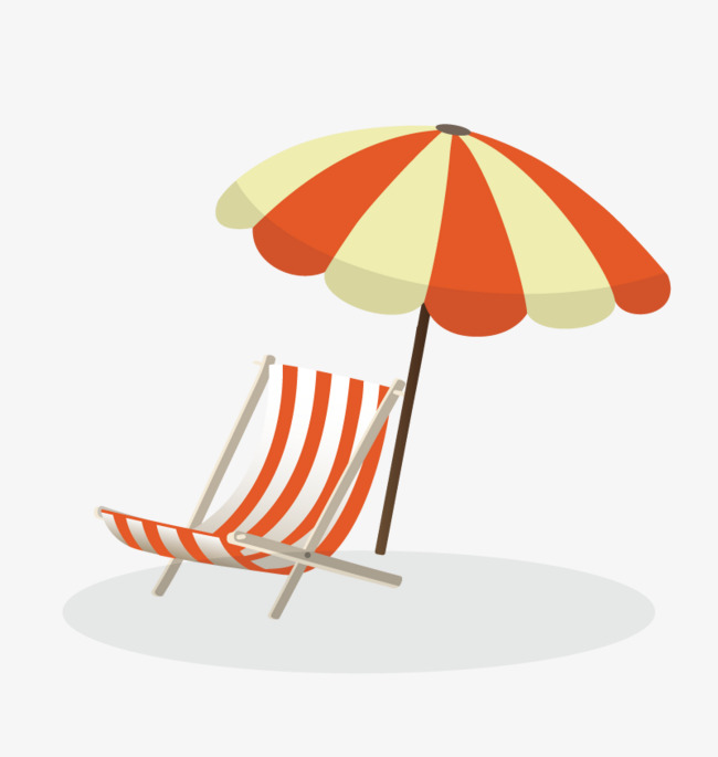 Vector Beach Chair, Beach Vector, Chair Vector, Umbrella PNG and.