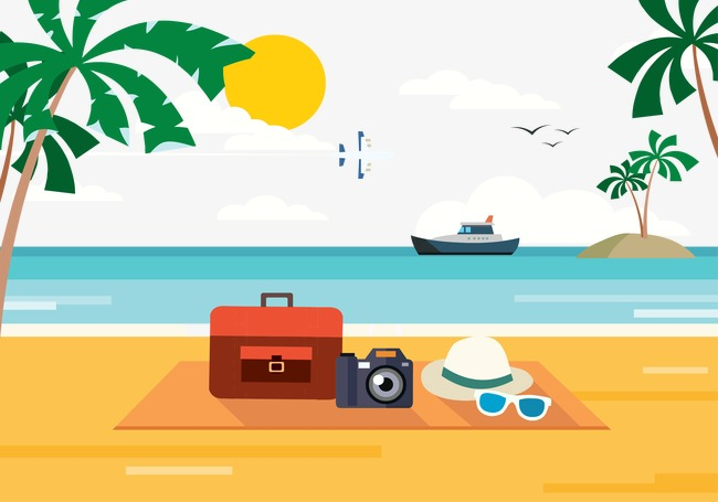 Holiday Beach, Beach Vector, Holiday, En #49362.