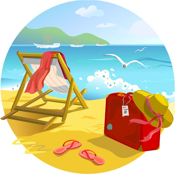 Beach Vector Png (+).