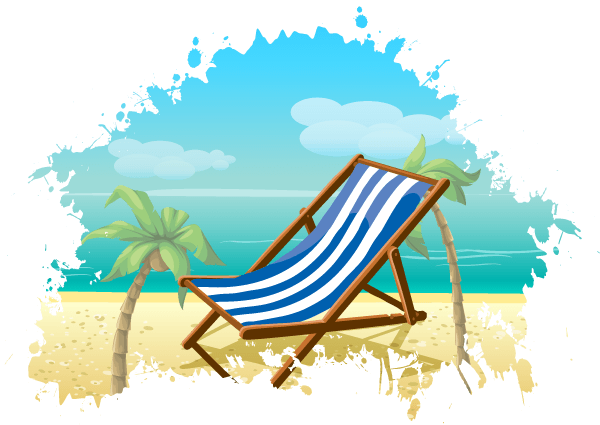 Free Summer Beach Vector Background.