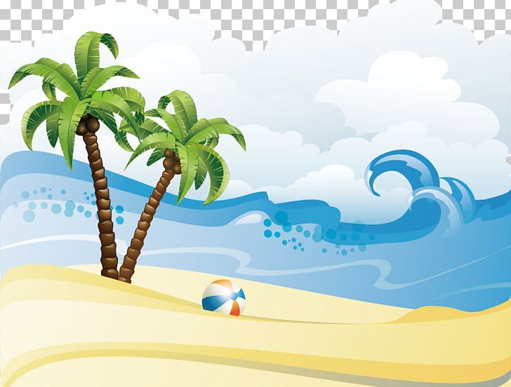 Summer Beach PNG, Clipart, Background Vector, Beach Background.
