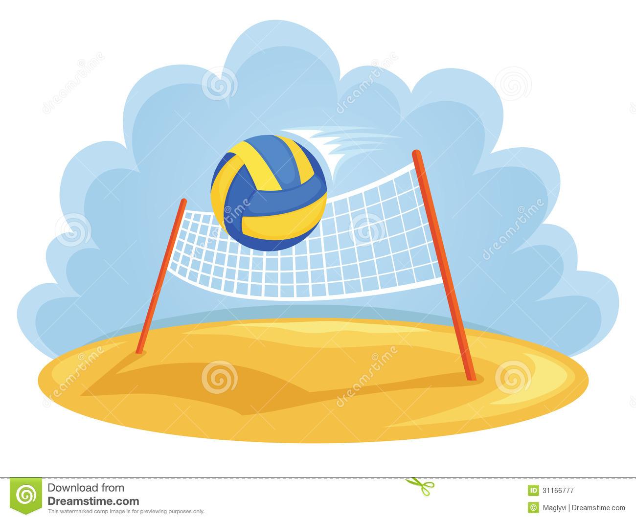 Beach volleyball net clipart.