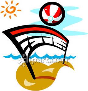 Beach Volleyball Clipart.