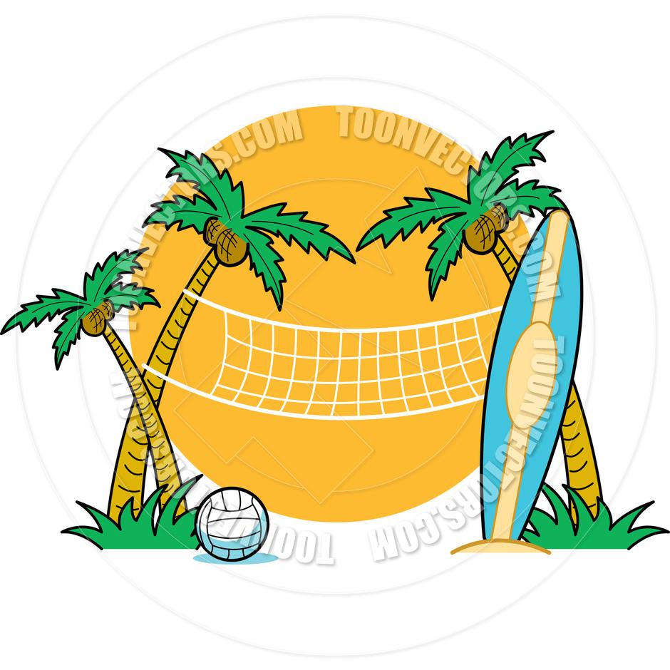 Beach volleyball clip art.
