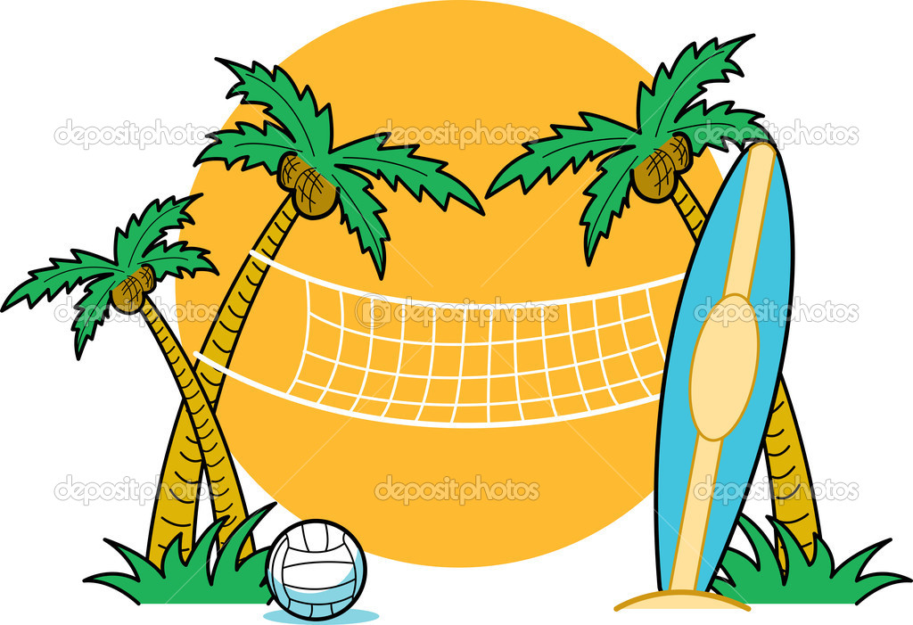 Sand volleyball court clipart.
