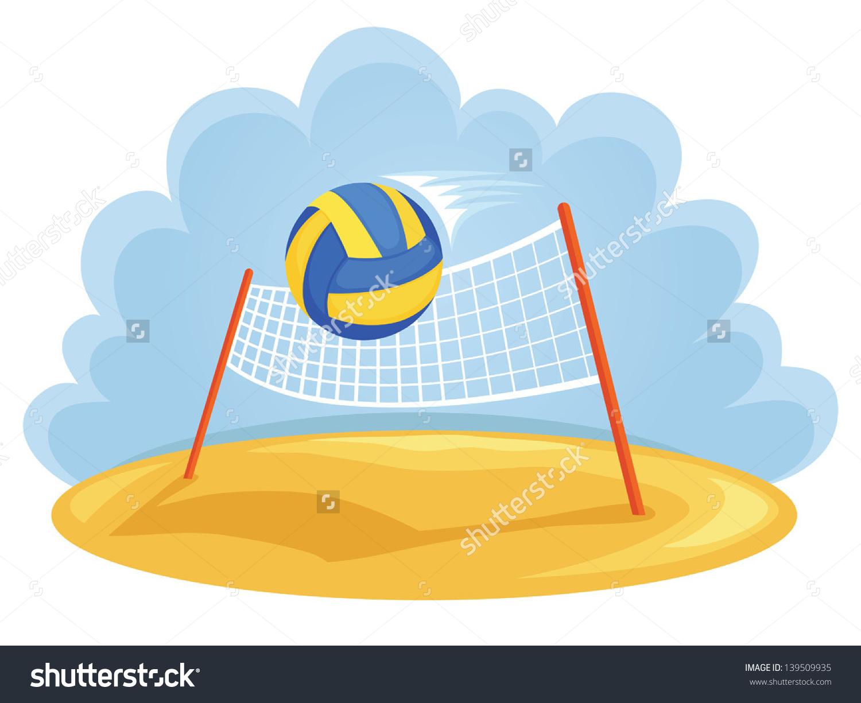 Beach Volleyball Net Clip Art.