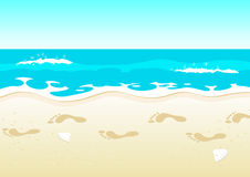 Relaxing Beach Walk Stock Illustrations.