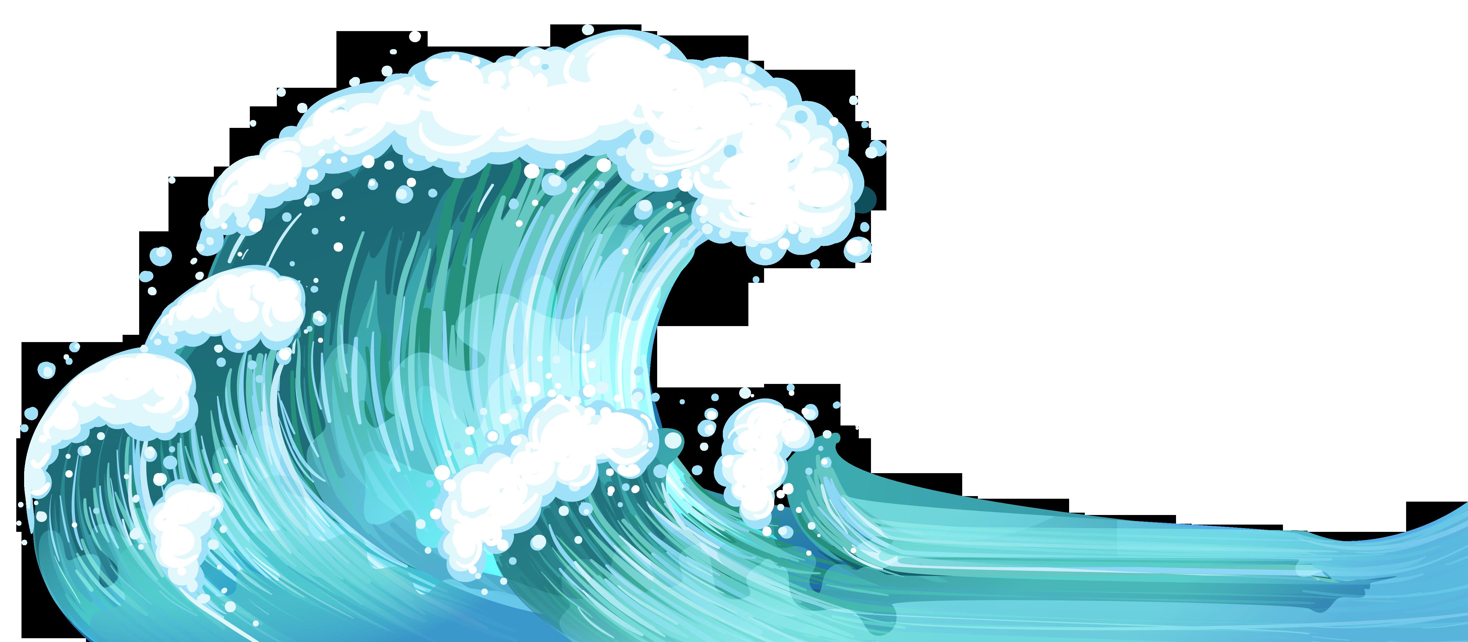 ocean waves clip art simple.