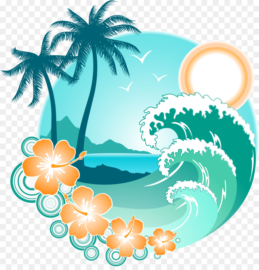 Beach Cartoon png download.
