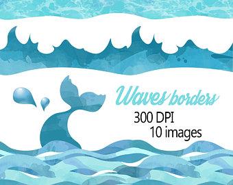 Beach wave clipart.