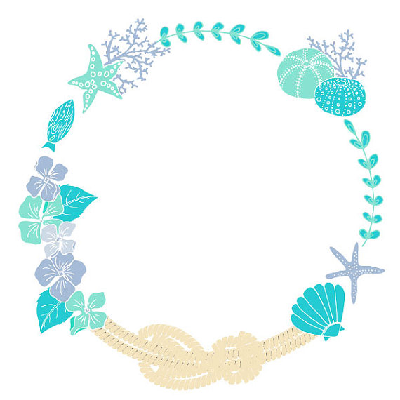 Beach wedding clip art.
