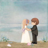 Beach Wedding Stock Illustrations.