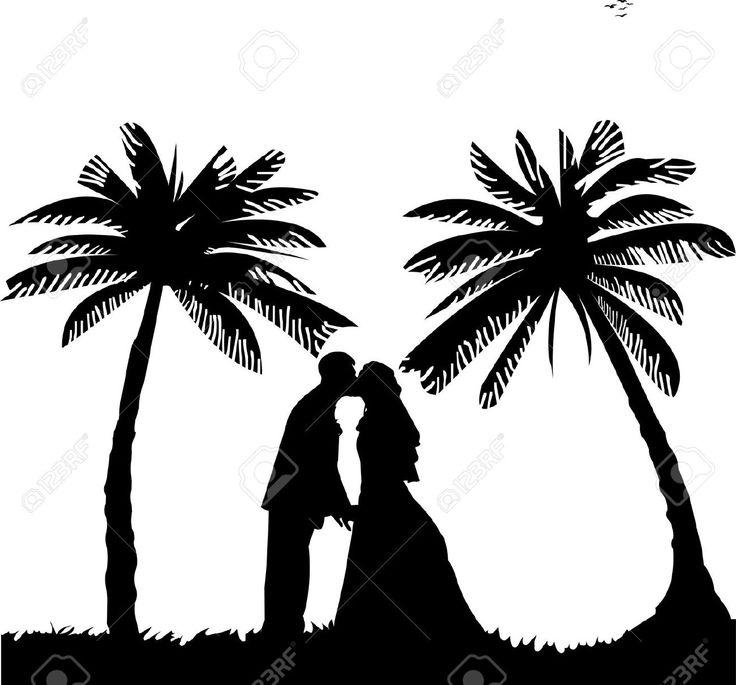 Beach Wedding Silhouette.