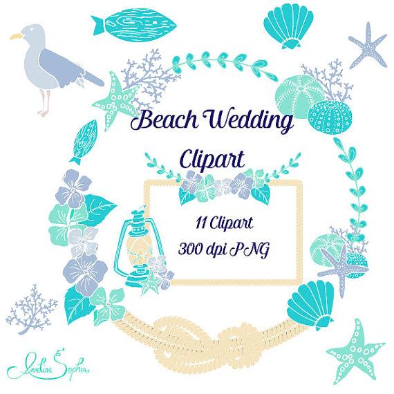 Beach Wedding Clipart.