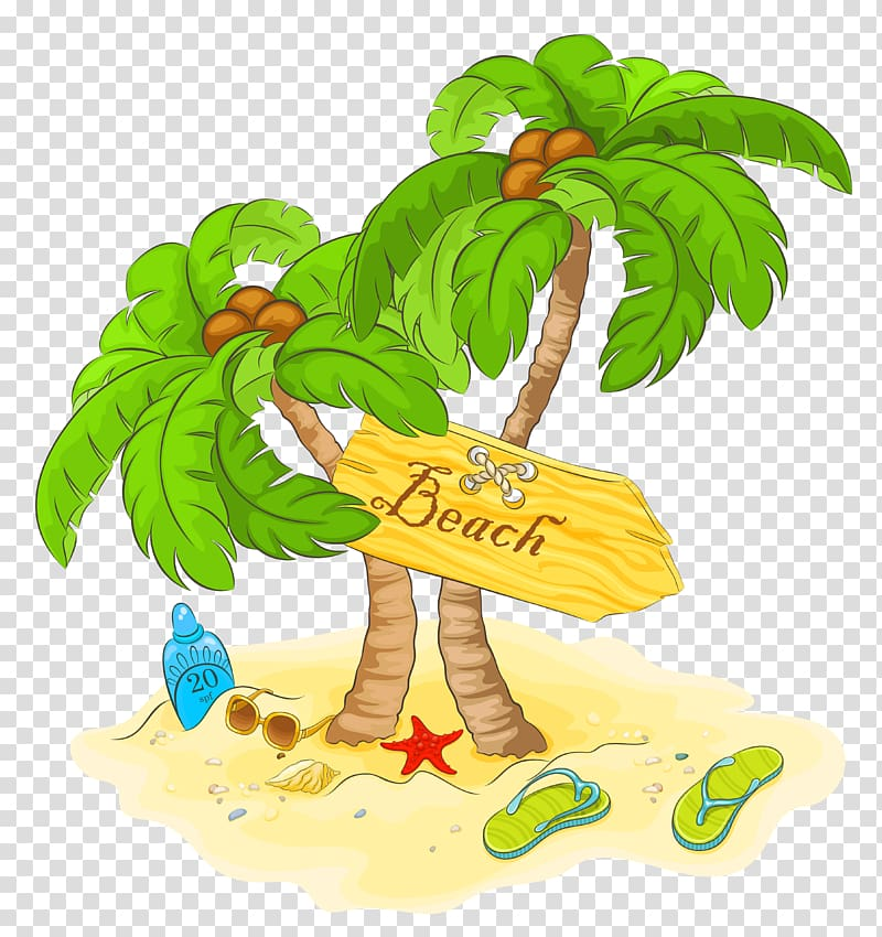 Beach , Beach Palm Decor , brown and green tree illustration.