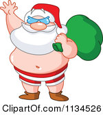 Beach christmas clip art.