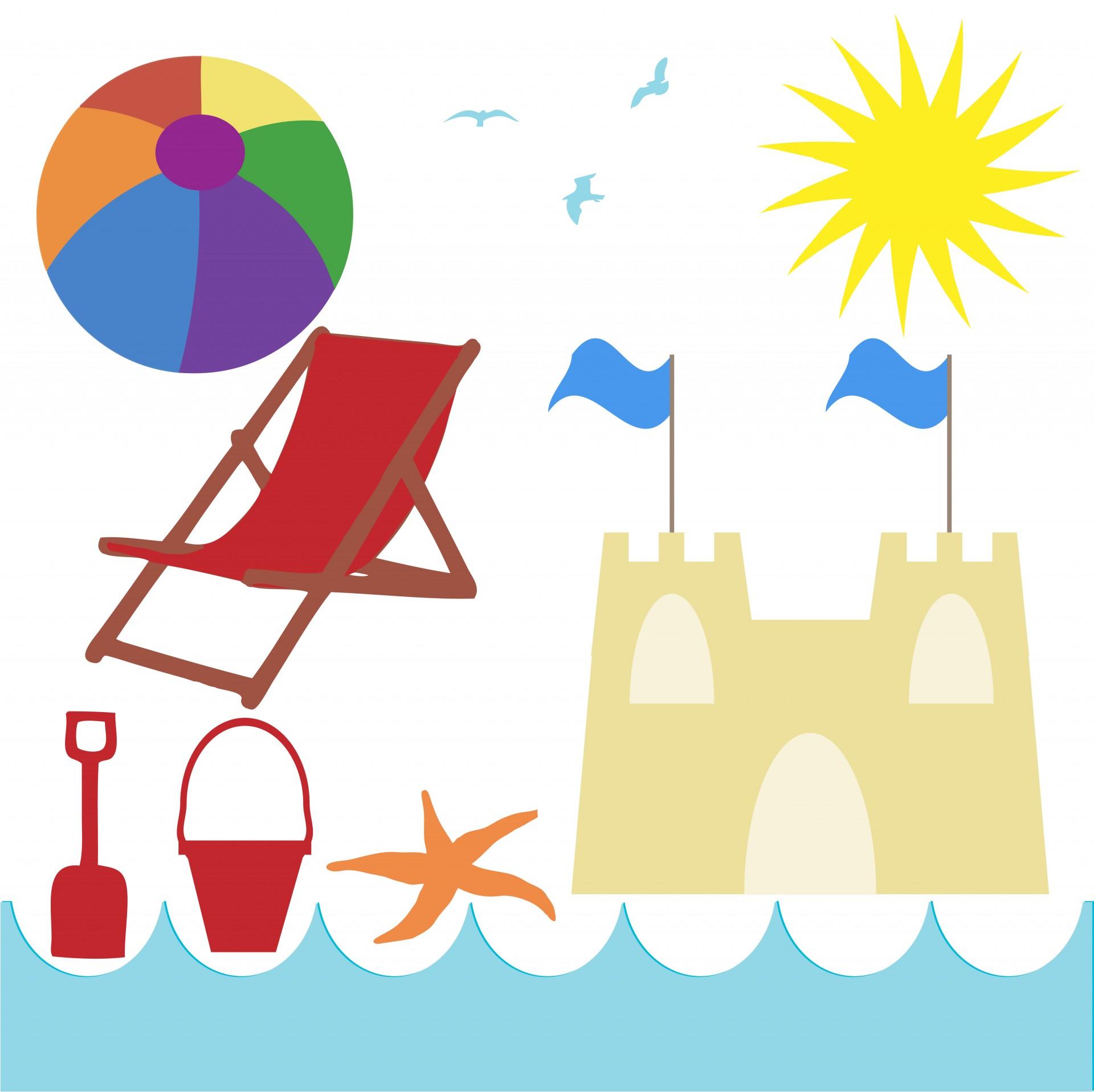 Seaside Beach Holiday Clipart Free Stock Photo.