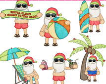 Similiar Santa At The Beach Clip Art Keywords.